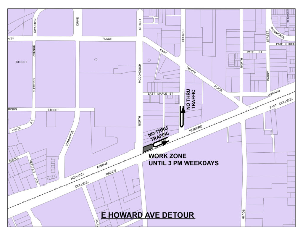 East Howard Detour