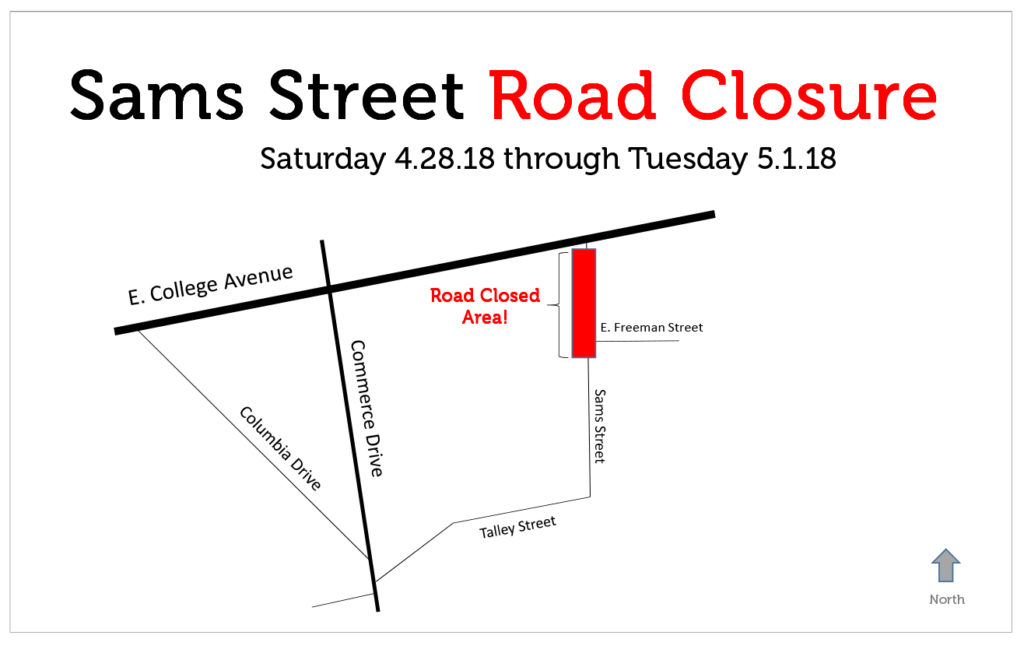 Microsoft PowerPoint - Sams Street Road Closure Map